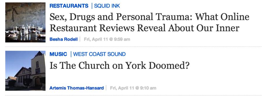 Intriguing headlines
